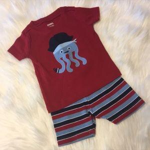 Gymboree Baby Boy Pajama Set Size 6-12M